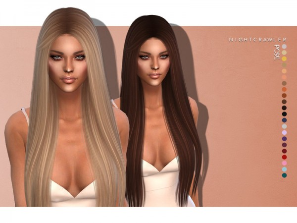 The Sims Resource: Pose hair by Nightcrawler for Sims 4