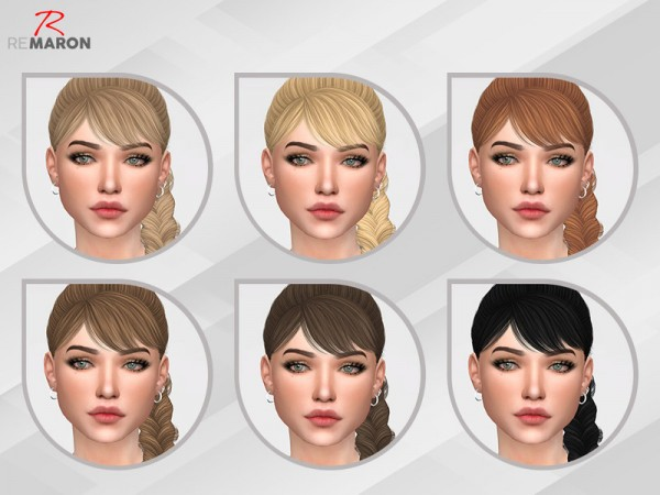 The Sims Resource: Nightcrawler`s Rain hair retextured by remaron for Sims 4