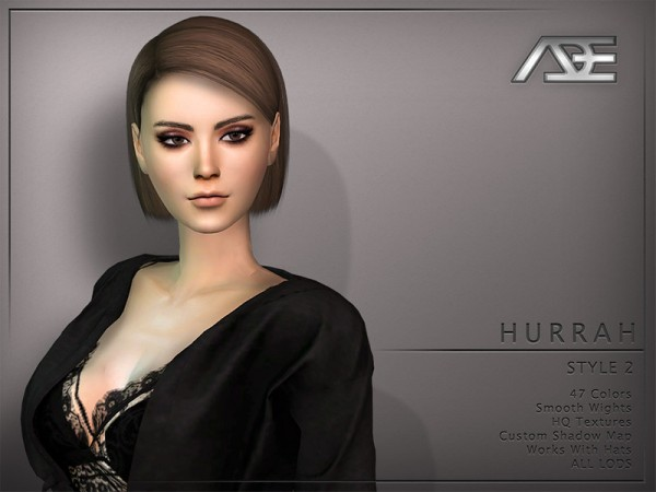 The Sims Resource: Hurrah Style 2 hair by Ade Darma for Sims 4