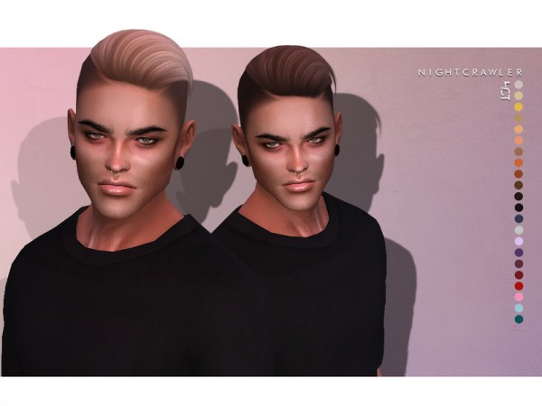 The Sims Resource: Hot Hair by Nightcrawler for Sims 4