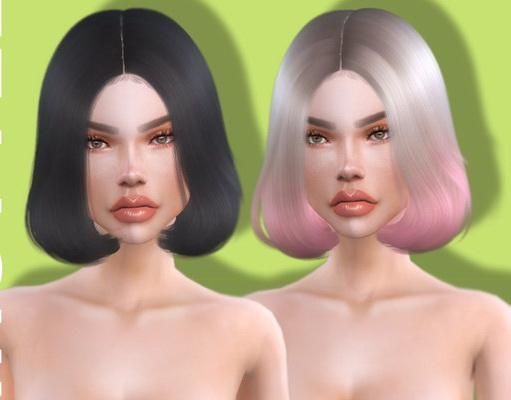The Sims Resource: Boujee Hairstyle by Leah Lillith for Sims 4