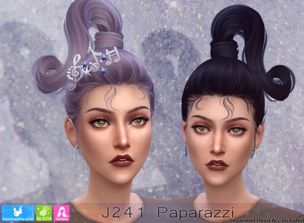 NewSea: J241 Paparazzi Hair for Sims 4