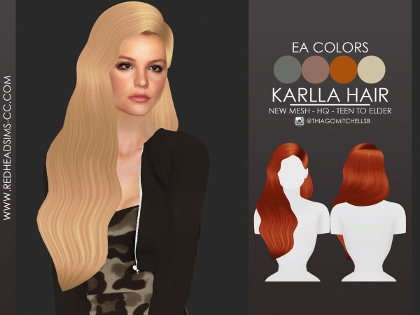 Coupure Electrique: Karlla Hair for Sims 4