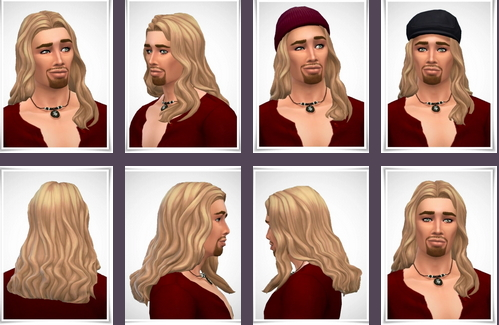 Birksches sims blog: Leslie Hair male for Sims 4