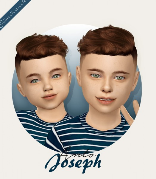 Simiracle: Anto`s Joseph Hair Retextured   kids and toddlers version for Sims 4