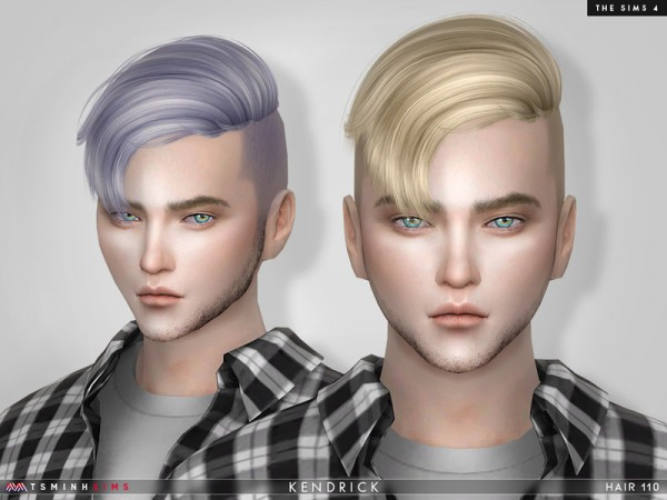 The Sims Resource: Kendrick Hair 110 by TsminhSims for Sims 4
