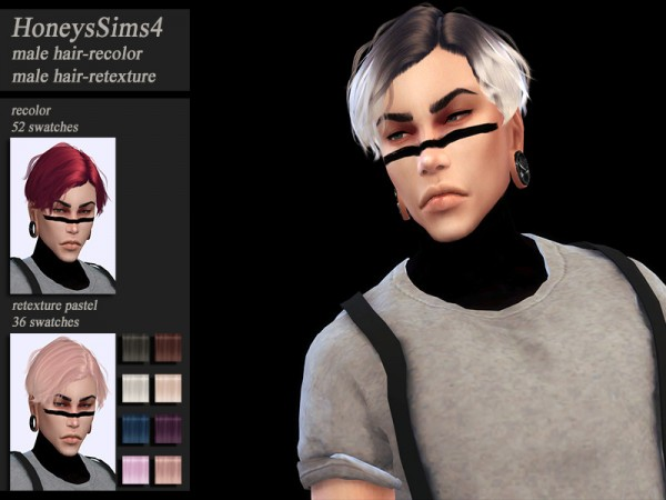 The Sims Resource: Musae Vacance hair retextured by HoneysSims4 for Sims 4