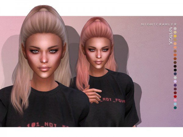 The Sims Resource: Mystique Hair by Nightcrawler for Sims 4