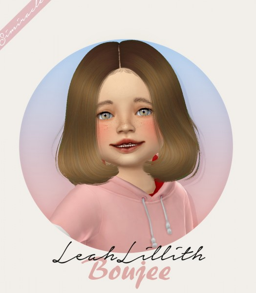 Simiracle: LeahLillith`s Boujee hair retextured   kids and toddlers version for Sims 4