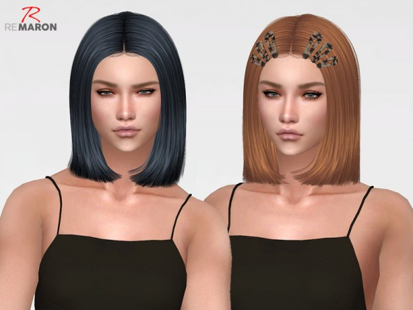 The Sims Resource: LeahLillith`s Maddie hair retextured by remaron for Sims 4