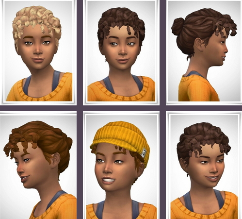 Birksches sims blog: Fanny Girly Hair for Sims 4