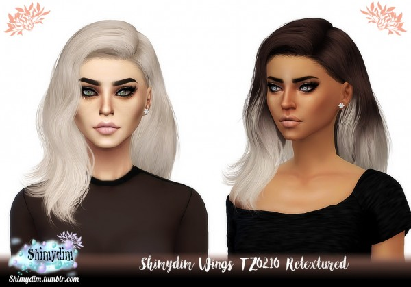 Shimydim: Wings TZ0210 Hair Retextured for Sims 4
