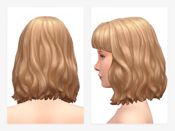 The Sims Resource: Hunie Hair by Nords for Sims 4