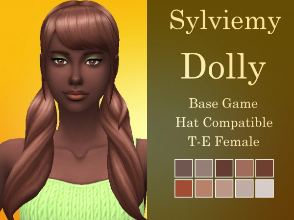 The Sims Resource: Dolly Hair Natural Hair Recolored by Sylviemy for Sims 4