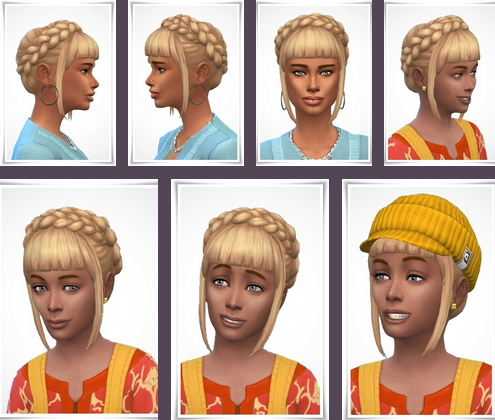Birksches sims blog: Lucy Hair for Sims 4