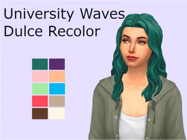 The Sims Resource: University Waves Hair Recolored by SimDulce for Sims 4