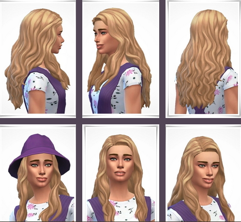 Birksches sims blog: Grace Waves for Sims 4