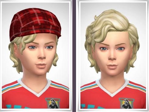 Birksches sims blog: Payton Hair Kids version for Sims 4