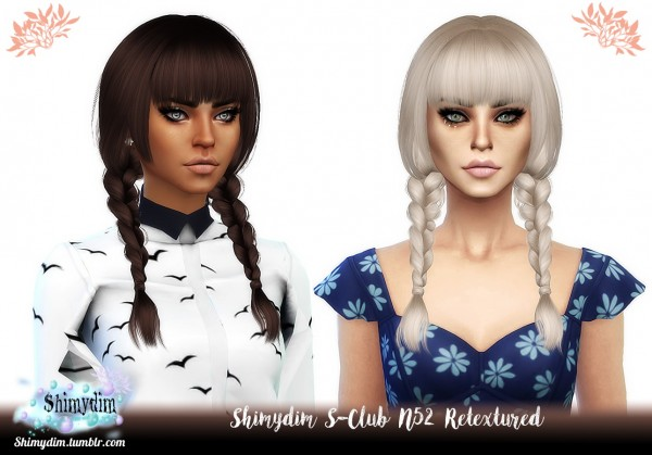 Shimydim: S Club N52 Hair Retextured for Sims 4