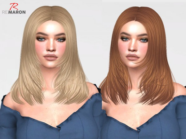 The Sims Resource: Kala Hair Retextured by remaron for Sims 4