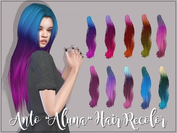 The Sims Resource: Anto Aluna Hair   Recolor by GossipGirl S4 for Sims 4