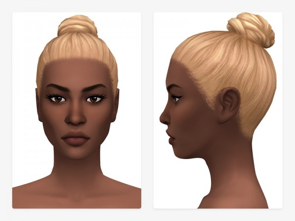 The Sims Resource: Ndidi Hair by Nords for Sims 4