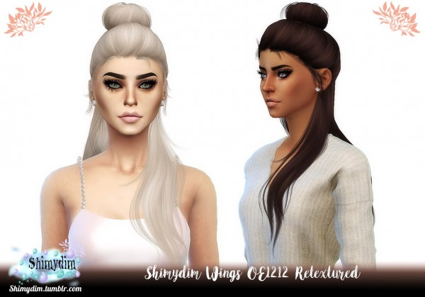 Shimydim: Wings OE1212 Hair Retextured for Sims 4