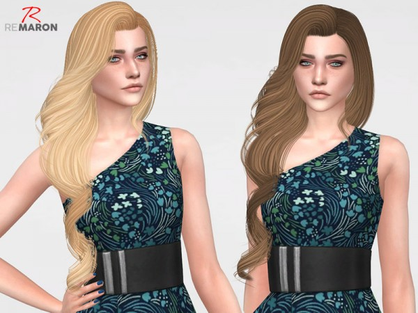 The Sims Resource: Yodit Hair Retextured by remaron for Sims 4