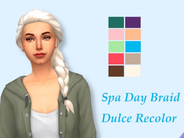 The Sims Resource: Spa Braid Recolored by SimDulce for Sims 4