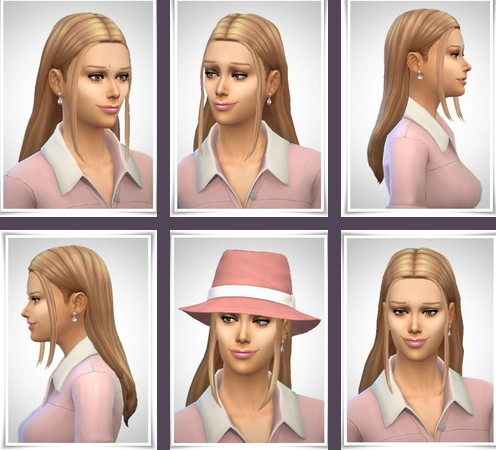 Birksches sims blog: Lorie Hair for Sims 4