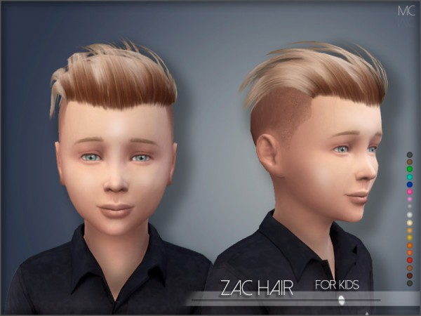 The Sims Resource: Zack Hair Kids by mathcope for Sims 4