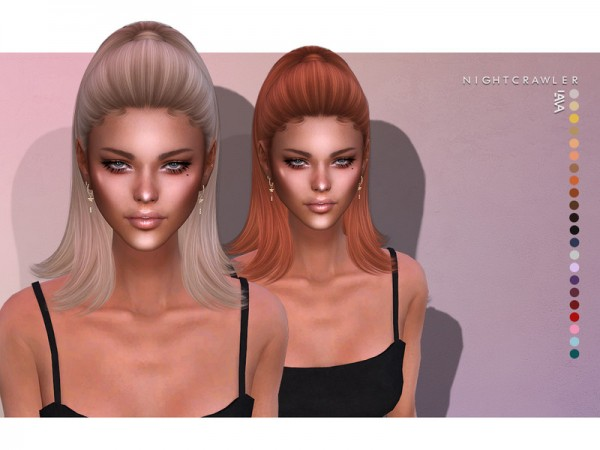 The Sims Resource: Lava Hair by Nightcrawler for Sims 4
