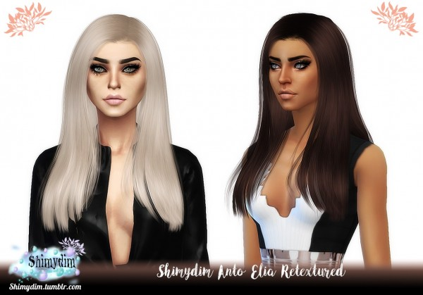 Shimydim: Anto`s Elia hair Retextured for Sims 4