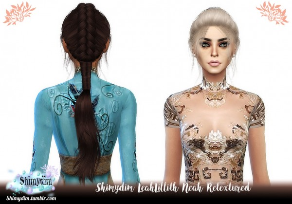 Shimydim: LeahLillith`s Neah Hair Retextured for Sims 4