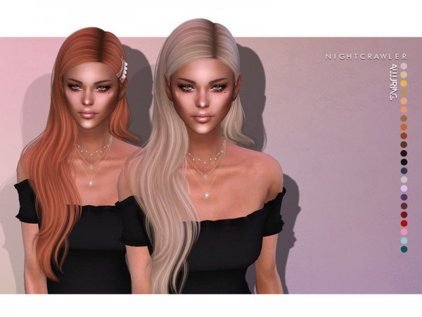 The Sims Resource: Alluring Hair set by Nightcrawler  for Sims 4