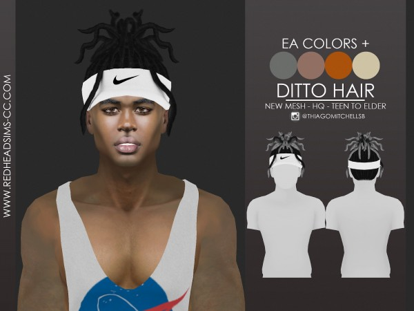 Coupure Electrique: Ditto hair for Sims 4