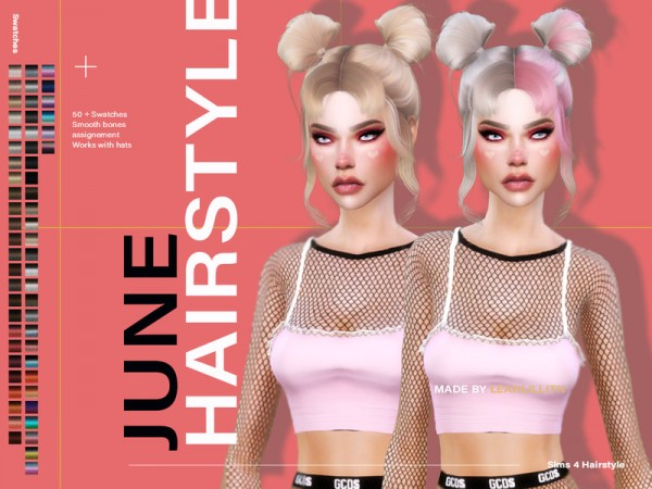 The Sims Resource: June Hair by  LeahLillith for Sims 4