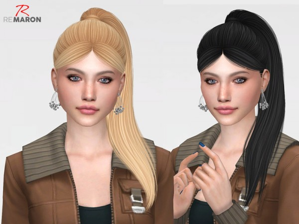 The Sims Resource: NightCrawler`s Lilly Hair Retextured by remaron for Sims 4