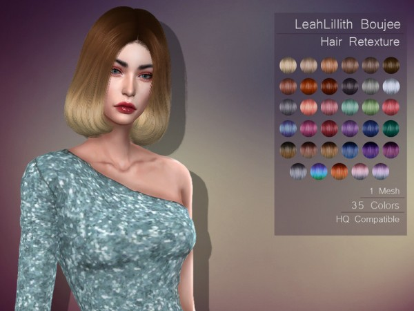 The Sims Resource: LeahLillith`s Boujee hair retextured by Lisaminicatsims for Sims 4
