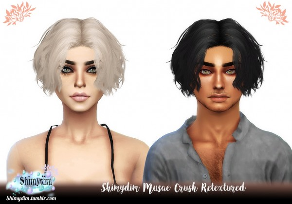 Shimydim: Musae`s Crush Hair Retextured for Sims 4
