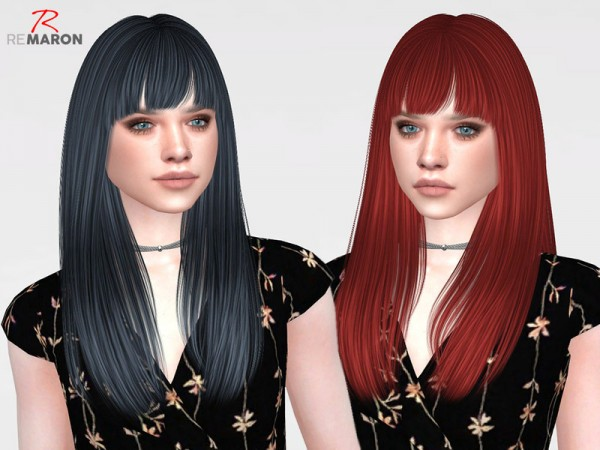The Sims Resource: Mango Hair Retextured by Remaron for Sims 4