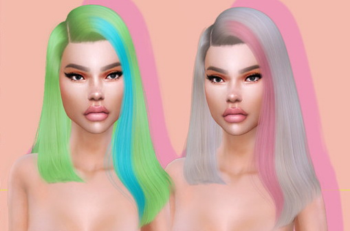 The Sims Resource: Onika Hair by LeahLillith for Sims 4