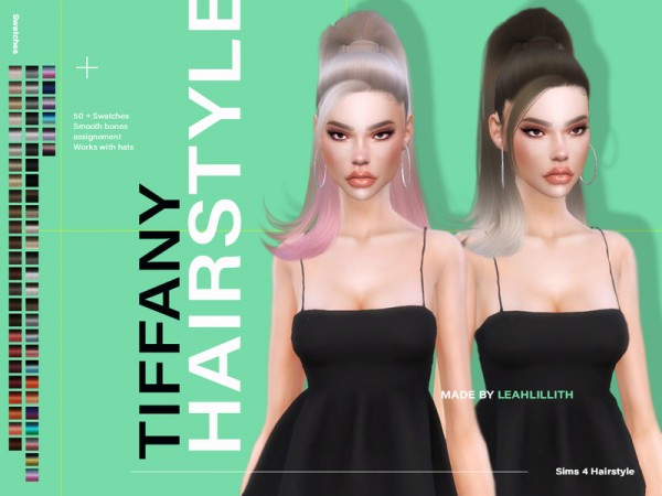 The Sims Resource: Tiffany Hairstyle by LeahLillith for Sims 4