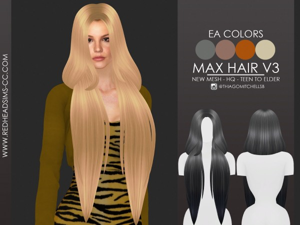 Coupure Electrique: Max Hair for Sims 4