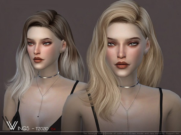 The Sims Resource: WINGS TZ0210 hair for Sims 4