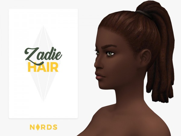 The Sims Resource: Zadie Hair by Nords for Sims 4