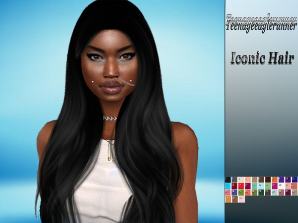 The Sims Resource: Iconic Hair Recolored by Teenageeaglerunner for Sims 4
