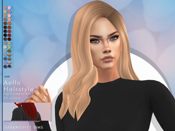 The Sims Resource: Aella Hair by DarkNighTt for Sims 4