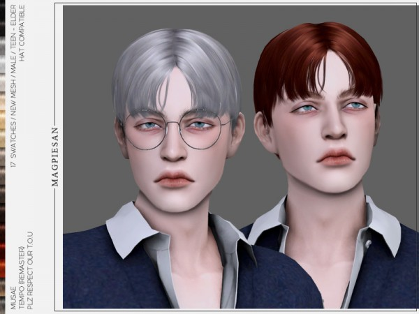 The Sims Resource: Tempo Hair by magpiesan for Sims 4
