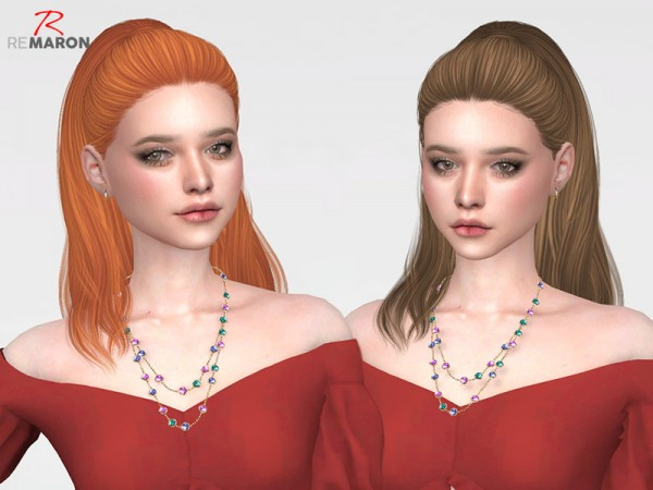 The Sims Resource: NightCrawler`s Mystique Hair Retextured by remaron for Sims 4